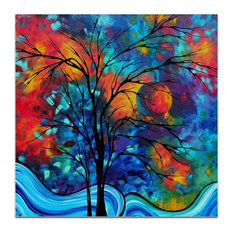 Landscape Painting 'A Secret Place', Abstract Tree Art on Acrylic