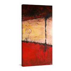 """Rooted in Red"" Painting Print on Wrapped Canvas, 22.5""x45"""