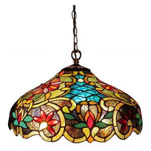 Leslie Victorian 2-Light Ceiling Pendant Fixture