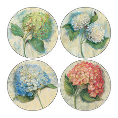 Hydrangea Stone Coasters, Set of 8