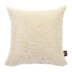 Cream Scatter Cushion, Paisley, 45x45 Cm