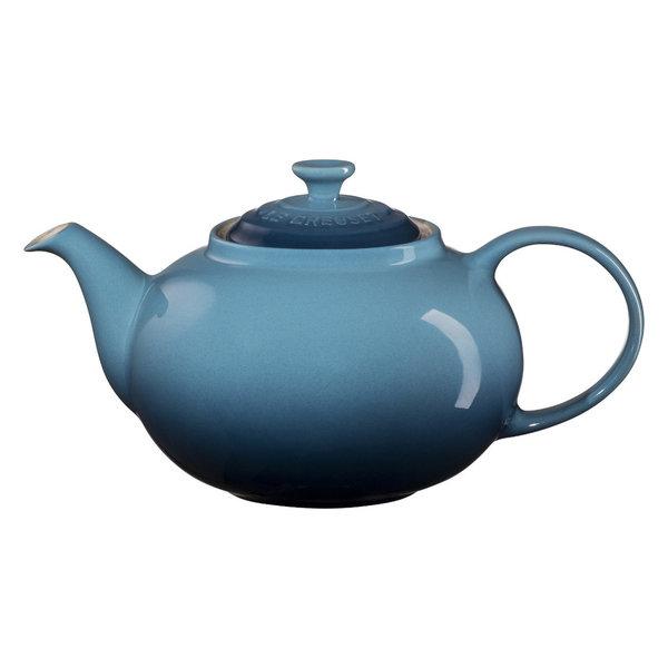 Le Creuset Marine Enameled Stoneware 1.4 Quart Traditional Teapot