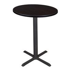 """Cain 30"""" Round Cafe Table, Mocha Walnut"""