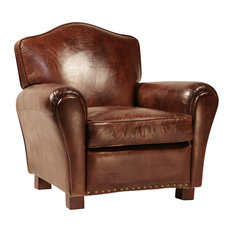 Design Mix Furniture   Aged Leather Club Chair   Armchairs And Accent Chairs