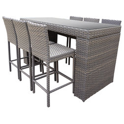 Tropical Outdoor Pub And Bistro Sets by Burroughs Hardwoods Inc.