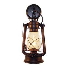 Muskoka Lifestyle Products   Rustic Lantern Wall Mounted Light, Large,  Rustic   Outdoor Wall