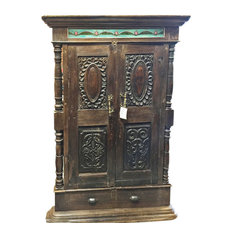 Mogul Interior.com - Consigned Window Terrace India Furniture Rare Rustic Antique Jharokha - Windows And Doors