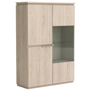Origin Display Cabinet, Arizona Oak, Duplex