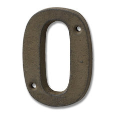 Cast Iron Number '0', Rustic Brown