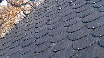 Pizarra redonda tejado