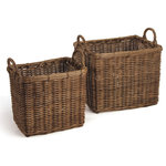 Napa Home & Garden - Normandy Square Chateau Baskets, Set of 2 - When it comes to the classic, casual appeal of rattan, these baskets are some of Napa's best. Great for sorting laundry or for an elegant storage solution.