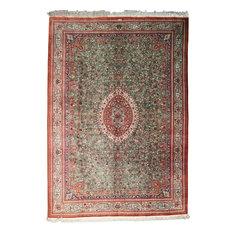 "Qum Silk  Rug Oriental Carpet 11'6""x8'1"" Hand-Knotted Classic"