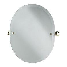 Perrin & Rowe - Perrin & Rowe - Oval mirror 500mm wide x 625mm high - Bathroom Mirrors