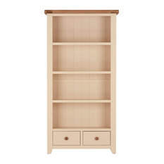 Bookcase With Drawers, Champagne Painted Oak