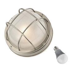 """LED Bulkhead Marine Light 10"""", 39556 SS LED"""