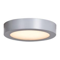 """Ulko LED Outdoor Flush Mount Ceiling Light, Silver, 6"""""""
