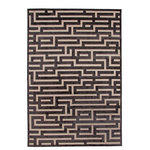 """Abacasa - Rectangle Abacasa Napa Maze Area Rug, Charcoal/Beige, 94""""x134"""" - The Napa Maze Charcoal and Beige Area Rug merges innovative weaving technology with beautiful materials and design. Napa combines a ground chenille base with a raised viscose pattern to maximize depth and texture in this collection. The Napa collection will bring a classic high-end designer look to any room setting."""