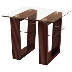 Cool Modern Side Tables And End Tables Magnussen Cordoba Rectangular End Table with Glass Top