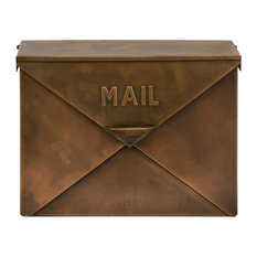 HomeRoots - Exclusive Copper Finish Mail Box - Mailboxes