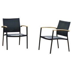 Midcentury Outdoor Dining Chairs by Amazonia