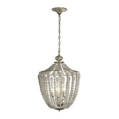 Laurel 5-Light Wooden Chandelier