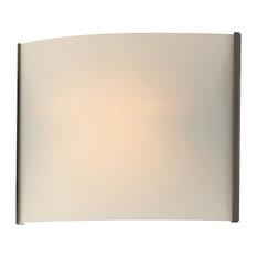 Pannelli 1-Light Bath Vanity, Oil Rubbed Bronze/White Opal Glass