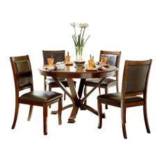 HomeleganceLA, Inc   Homelegance Helena 5 Piece Round Dining Room Set In  Cherry