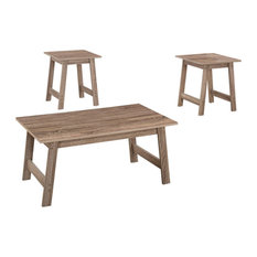 Monarch Taupe Particle Board And Laminate 3-Piece Table Set