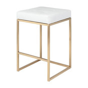 Chi Counter Stool, White and Gold