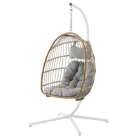 Swing Egg Chair With Stand, Brown/Gray