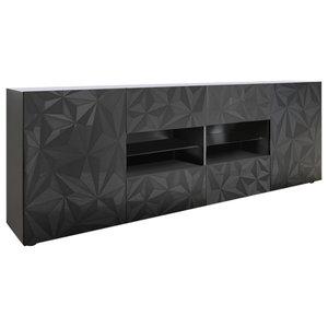 Prisma Decorative Sideboard, 241 cm, Grey