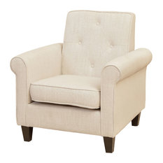 GDFStudio  Barzini Club Chair Armchairs and Accent Chairs Living Room Furniture Houzz
