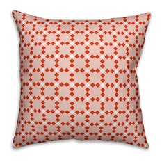 """Red Check Plaid Outdoor Throw Pillow, 18""""x18"""""""