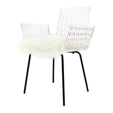 Chair, CALI Square With Cushions, White, Cali