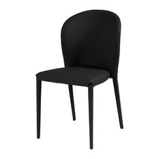 Cocoon Upholstered Dining Chair, Black