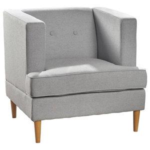 Pleasant Gdf Studio Madelyn Mid Century Modern Fabric Club Chair Machost Co Dining Chair Design Ideas Machostcouk