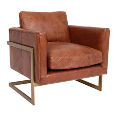 Edloe Finch Furniture Co. - London Leather Lounge Chair - Armchairs and Accent Chairs