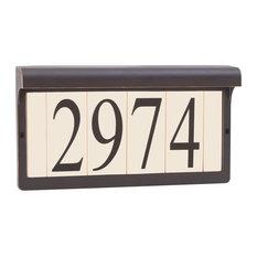 Blank Address Light, Antique Bronze