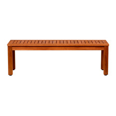 Amazonia Aster Backless Patio Bench | Eucalyptus Wood | Ideal for Outdoors
