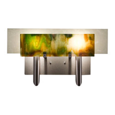 Wpt Design DESSY2-MD/FLSN Wall Sconce Stainless Steel Dessy, Meadow/Flat Snow