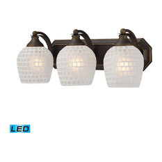 Eclectic 3 Light Vanity Light in Aged Bronze Finish