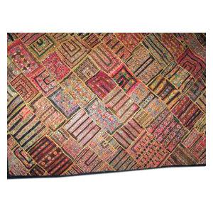 Mogul Interior - Sari Gujarati Tapestry Handmade Vintage Patchwork Wall Hanging - Tapestries