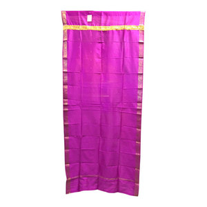Mogulinterior - Brocade Silk Saree Drapes Curtain, Fuchsia Pink - Curtains