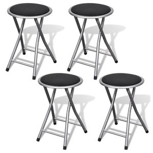 Trademark Home Collection 24 X 14 Cushioned Folding Stool