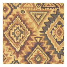 Beige, Blue, Green and Brown Southwest Style Upholstery Fabric By The Yard