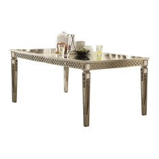 ACME Kacela Extendable Mirrored Dining Table, Champagne