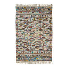Superior Handwoven Ziazan Recycled Cotton Fringe Area Rug