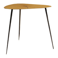 tall end tables. Mobital USA Inc. - Oakley 20 Tall End Table Oak Veneer With Black Iron Legs Tables
