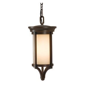 Small IP23 Outdoor Chain Lantern, Heritage Bronze