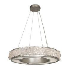 Fine Art Lamps Arctic Halo Platinized Silver 12 Light Chandelier